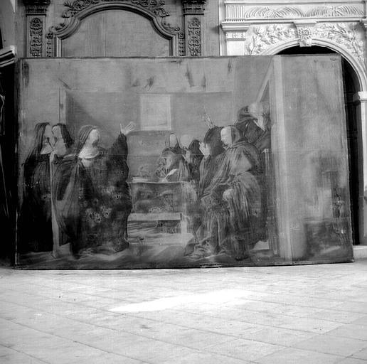 Peinture sur toile : Saint Benoît et sainte Scholastique