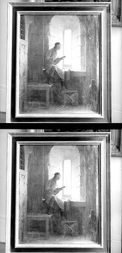 Peinture à huile sur toile : Le ménestrel