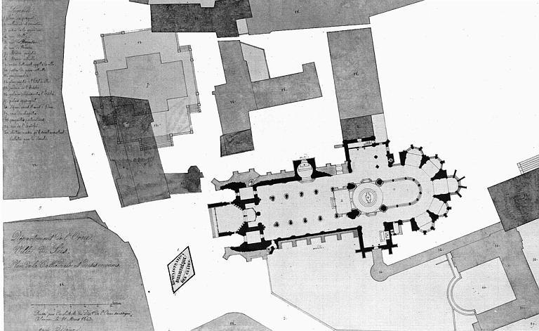 Plan de la cathédrale et des abords