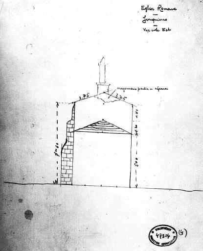 Croquis : Elévation de la façade est