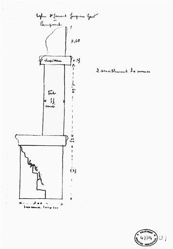 Croquis : Coupe d'une pile du campanile