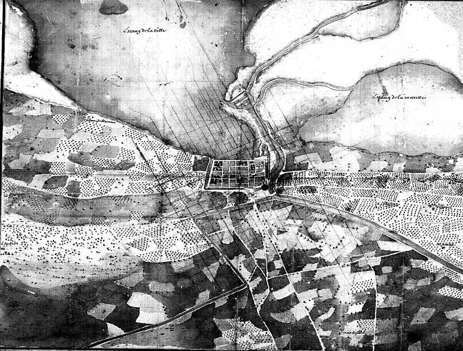 Plan de la ville et de ses environs