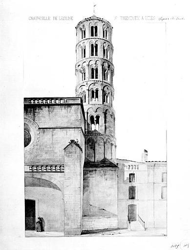 Vue perspective du campanile (aquarelle)