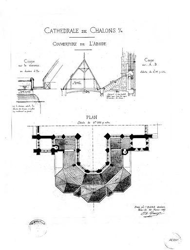 Couverture de l'abside : Plans et coupes