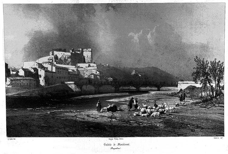 Lithographie : Vue générale de la citadelle