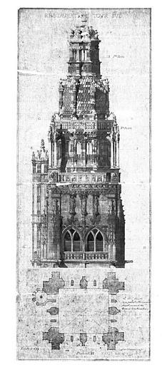 Restauration de la tour sud : Elévation et plan