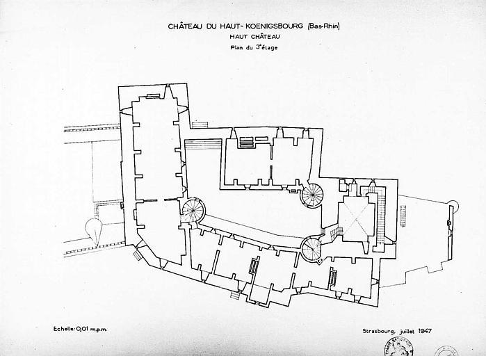 Haut-château : Plan du 3e étage
