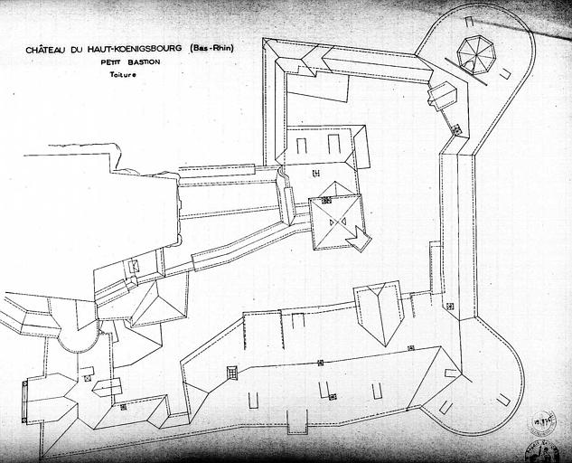 Petit bastion : Plan des toitures
