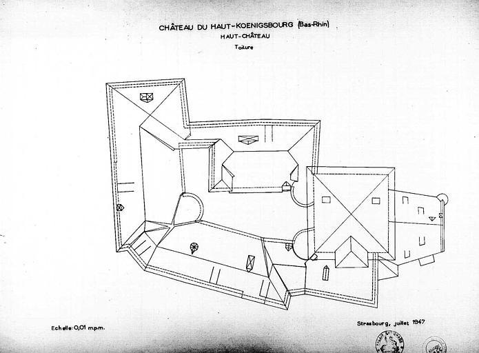 Haut château : Plan des toitures