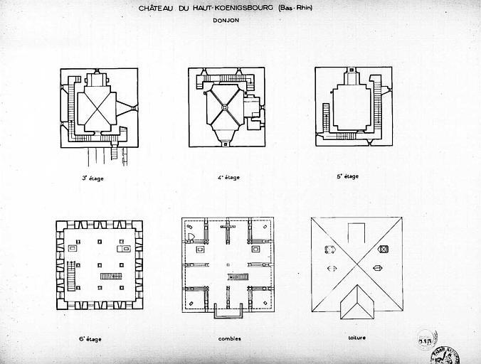 Donjon : Plans des étages