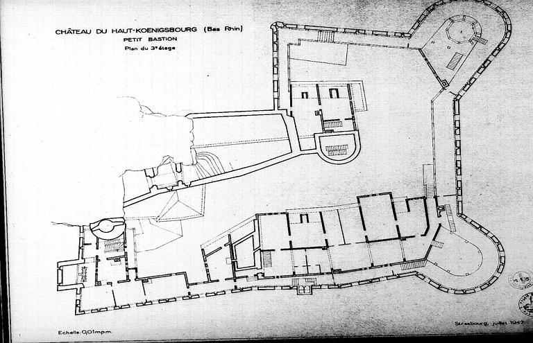 Petit bastion : Plan du 3e étage