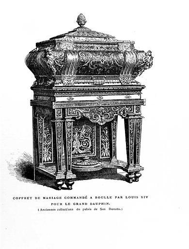 Gravure : Coffret de mariage, commandé par Louis XIV pour le Grand Dauphin