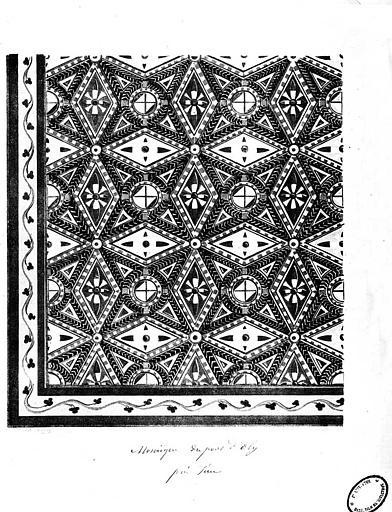 Chromolithographie de la mosaïque