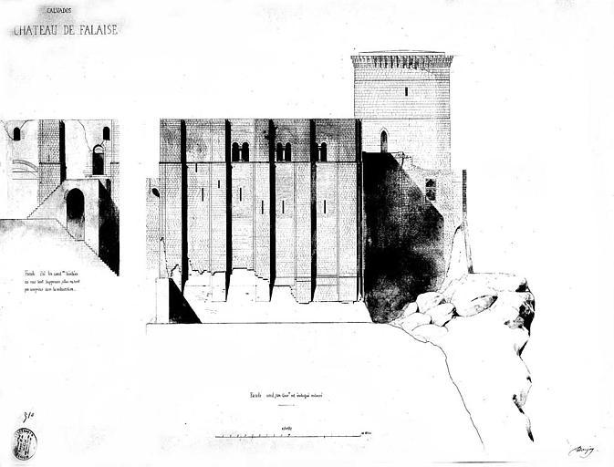 Elévations des façades nord et est (état restauré)