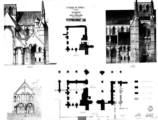 Restauration de la salle capitulaire : Plans, coupes et élévations