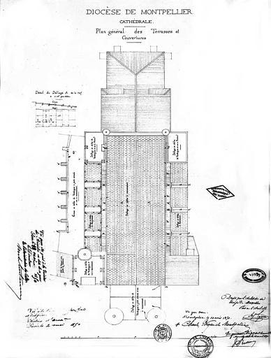 Plan général des terrasses et couvertures