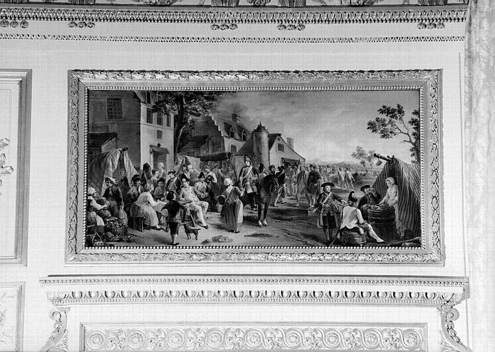 Grand salon d'apparat du 1e étage : Panneau peint de dessus de porte