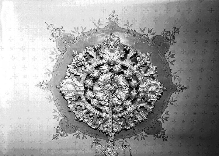 Salon Louis XV et Second Empire : Rosace du plafond