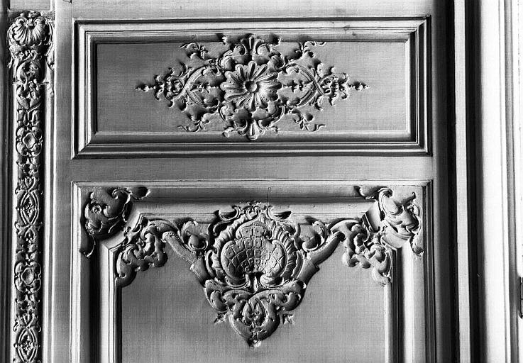 Salon Louis XV au rez-de-chaussée : Détail des lambris