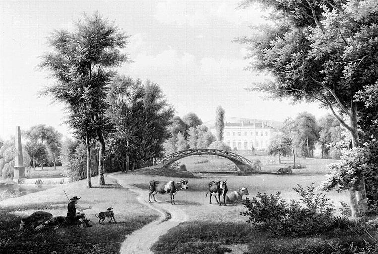 Peinture sur toile : Vue du château de Viliers-Saint-Paul près Senlis