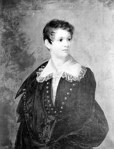 Peinture sur toile : Portrait de Frédéric Napoléon Bacciochi