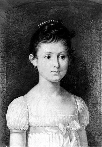 Peinture sur toile : Portrait de jeune fille