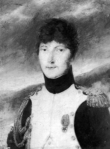 Peinture sur toile : Portrait d'officier