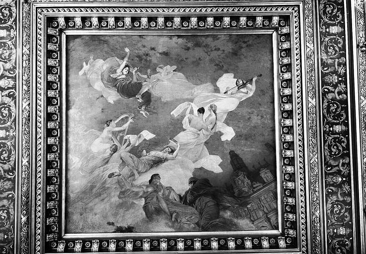 Salon de réception : Plafond peint