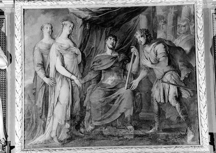 Grand'salle, peinture de la cheminée : La continence de Scipion