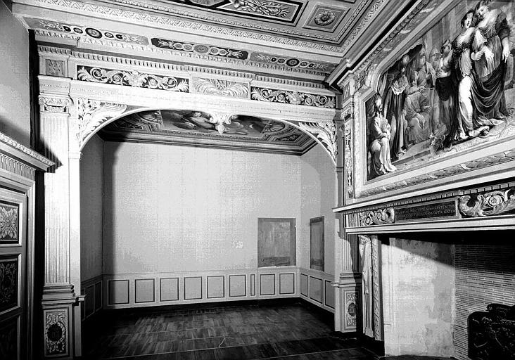Chambre d'Esther, vue vers l'alcôve