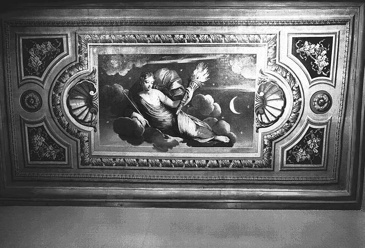 Chambre d'Esther, plafond peint de l'alcôve : Le Lever du soleil