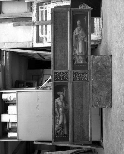 Panneau peint (revers) : Les docteurs de l'église, saint Ambroise et saint Ihéronime