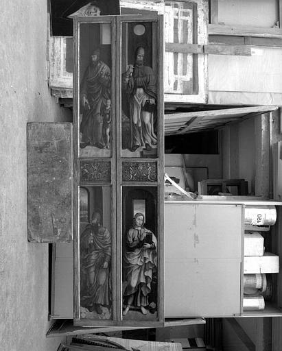 Panneau peint : Les quatre évangélistes