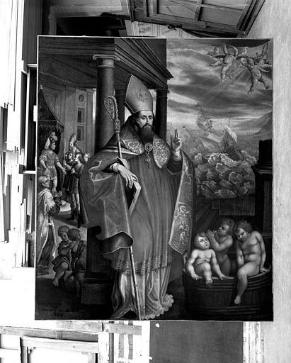 Peinture sur toile : Les miracles de saint Nicolas