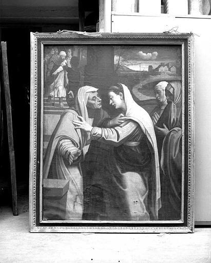 Peinture sur toile : La Visitation