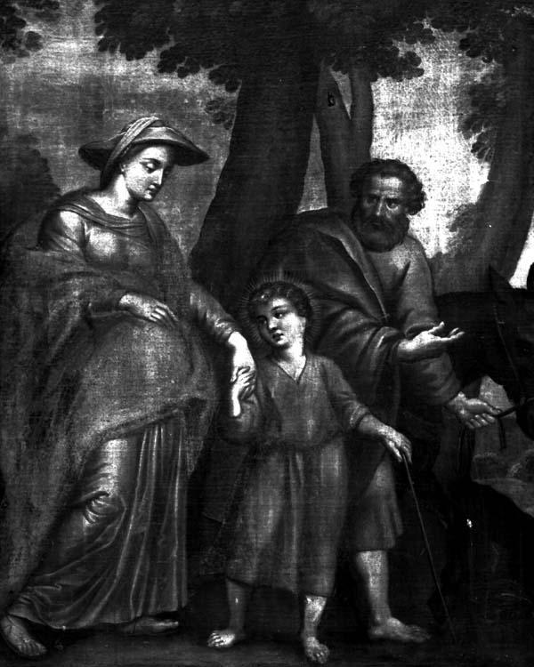 Peinture sur toile : La sainte Famille