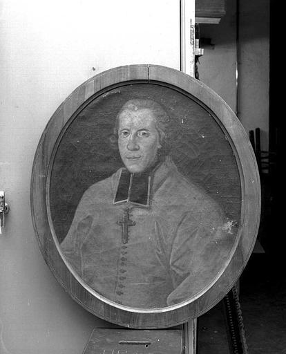 Peinture sur toile (sacristie des chanoines) : Monseigneur Amédée de Broglie
