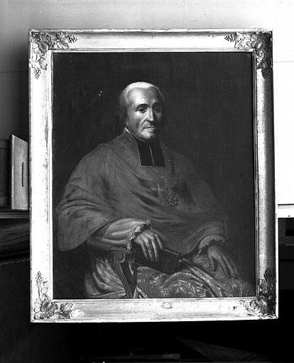 Peinture sur toile (sacristie des chanoines) : Monseigneur Lacombe
