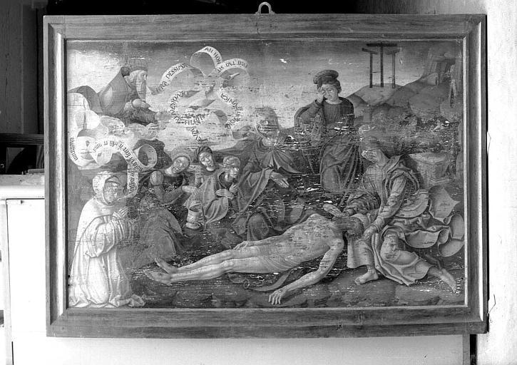 Panneau peint : Déposition de croix