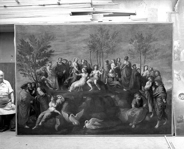 Peinture sur toile : Le Parnasse