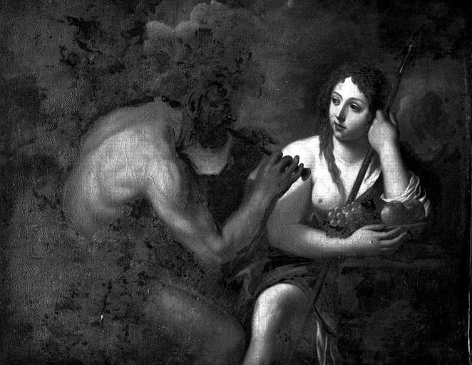 Peinture sur toile : Pan et syrinx