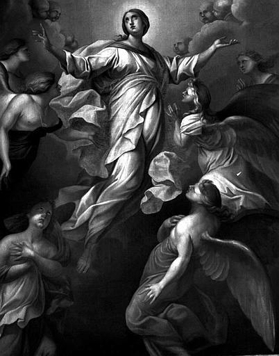 Peinture sur toile du retable du maître-autel : L'Assomption