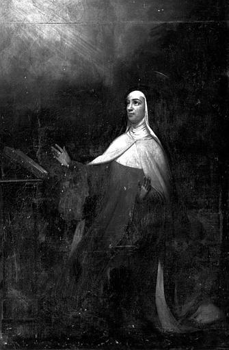 Peinture sur toile : Religieuse en extase