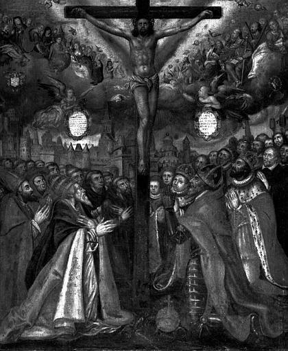 Peinture sur toile : Le Christ rédempteur de l'univers