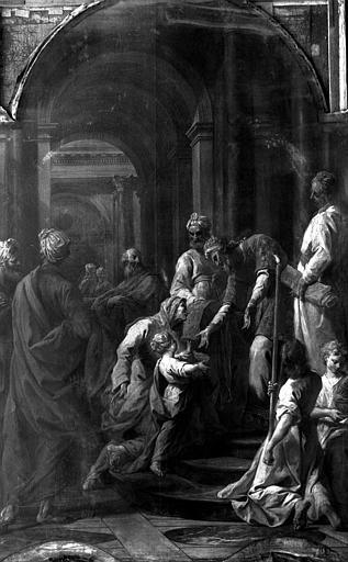 Peinture sur toile du retable : La présentation au Temple
