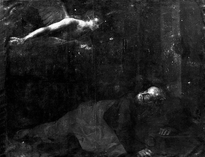 Peinture sur toile : L'ange apparaissant à saint Pierre
