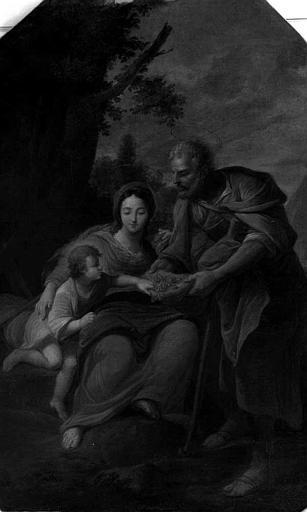 Peinture sur toile : Sainte Famille aux fruits