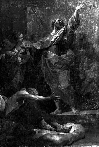 Peinture sur toile : Saint Pierre guérissant les aveugles