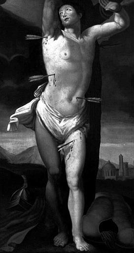 Peinture sur toile : Saint Sébastien
