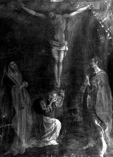 Peinture sur toile du maître-autel : Crucifixion